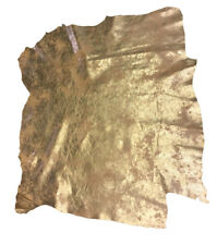 SALE Gold Leather Hides Genuine Lambskin Soft Metallic DIY Craft Material F773