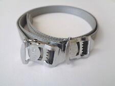 *NOS Vintage 1980s CAMUSSO Italian grey nylon toe straps (one pair)