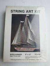 """String Art Kit Windjammer 9"""" x 12"""" TC3806 Open Door Enterprises Sailboat Model"""