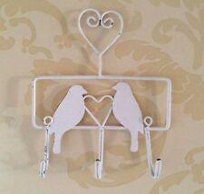 Métal Elimé Oiseaux Amour Triple Crochet Rangement Plateau Style Vintage