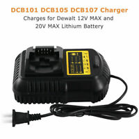 12V-20V MAX Li-Ion DCB105 Battery Charger for Dewalt DCB201-2 DCB201 DCB200 NEW