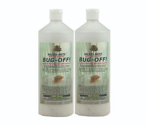 Bed Bug Powder BUG - OFF!  Twin Pack 400G Shaker Bottles - Bed Bug & Mite Killer