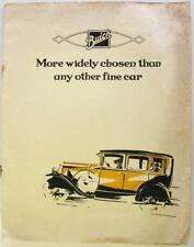 BUICK Range 1929 Right Hand Drive Original Car Sales Brochure