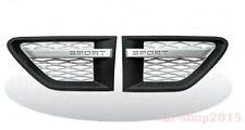 Side Grille Side Vent for RANGE ROVER Sport L320 10-13 BK/SL with Sport Fence
