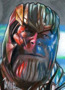 Avengers THANOS Mad Titan Josh BROLIN MARVEL PSC SKETCH Card ORIGINAL ART