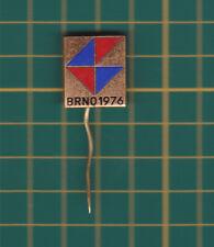 exhibition 1976 Brno Czech Republic - stick pin badge