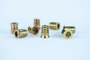 New M8 Type E Wood Insert Furniture Nuts + Corrosion Resistance Zinc Plating