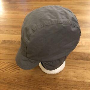 LL Bean Aviator Trapper Flap Cap Hat Gore-Tex Vintage USA Grey Mens XL Fleece