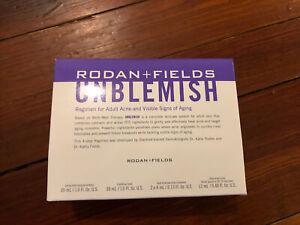 NEW Rodan and + Fields UNBLEMISH Regimen  Acne 4 Piece Small Kit