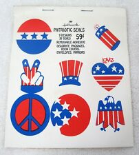 1970s Hallmark 4th July Patriotic Presidential Seal Peace Love Sticker Seals T80