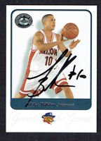 Mike Bibby #56 signed autograph 2001 Fleer Basketball Greats of the Game Card