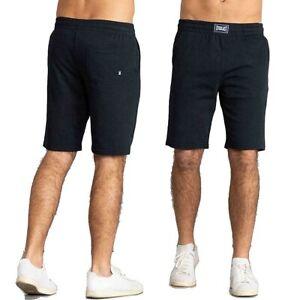 Pantalone corto tuta uomo EVERLAST sportivo pantaloncino jogging non felpato blu