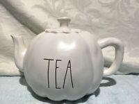 "NewRae Dunn ""TEA"", Thanksgiving/Fall Pumpkin Shaped Ceramic Teapot"