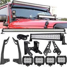 "Mount Bracket Fit Jeep Wrangler JK+52inch 700W+22"" 280W+4"" 18W LED Light bar Set"