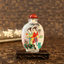 Inner Painting Snuff Bottle Chinese Antique Ancient Beautiful Girl