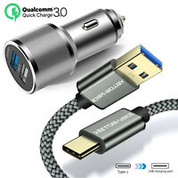 For Samsung Galaxy Note 10 Plus Note 9 Fast QC3.0 Quick Car Charger USB C Cable