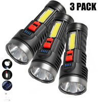 3X Super Bright 100000LM LED Torch Tactical Flashlight USB Rechargeable Portable
