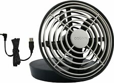 "O2COOL 5"" Portable USB or Batteries Powered 2 Speed Table Fan, Gray, BRAND NEW"