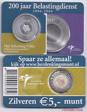 "NEDERLAND 5 EURO  2006: ""HET BELASTING VIJFJE"" IN COINCARD"
