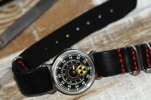 POBEDA watch Chemical armies - RHBZ Russian Soviet + leather strap in style NATO