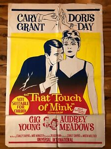 Original 1-Sheet Poster 27x41: That Touch of Mink (1962) Cary Grant, Doris Day