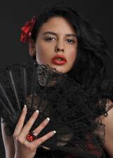 Mexican Lady Black Lace Fan