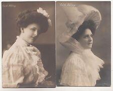 2 x Ak Schauspielerin Edith Whitney 1909 !