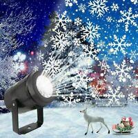 Festa di Natale con luce per proiettore laser a fiocchi di neve per esterni