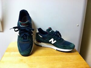 Men's New Balance 998 Classic Abzorb Sneakers Size 9 Low Top Dark Green Suede