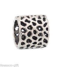 FREE P&P 50 PCs Dotted Spacer Beads Fit Charm Bracelet