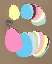 "Egg Die Cuts, Easter Egg Die Cuts, 20 ea, 3-1/2"" & 2-1/2"" - U Choose Color(s)"