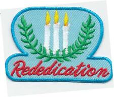 Girl REDEDICATION CANDLES Ceremony Fun Patches Crest Badge SCOUTS GUIDE brownie