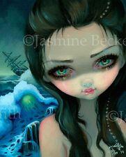 Shipwreck Siren Jasmine Becket-Griffith big eye lowbrow mermaid art CANVAS PRINT