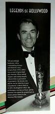 GREGORY PECK OSCAR LEGENDS OF HOLLYWOOD B&W TUX BOWTIE SMILE RARE STICKER