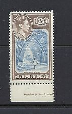 JAMAICA 1938-51 KGVI 2shilling key value plate number single. VF MNH