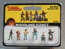 WOODLAND SCENICS HO SCALE JUG BAND figure music people banjo guitar WDS 1902 NEW