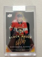 Aleksander Barkov 2019-20 UD Clear Cut Black Amber Auto Gold Ink Autograph