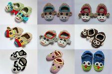 Wholesale Lot 10 Knit Crochet Cotton Newborn Baby Child Colorful Monkeys Shoes