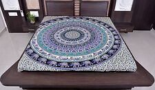 Indian Elephant Wall Hanging Hippie Mandala Tapestry Queen Throw Ethni Bedspread