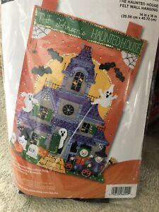 "Plaid Bucilla Halloween Wall Hanging ""The Haunted House"" 2018"