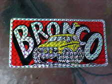1970s FORD BRONCO UNIQUE PRIZIM VANITY LICENCE PLATE STICKER CLASSIC MOD '70s!