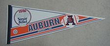 1988 Auburn Tigers Sugar Bowl Game Day Pennant Unsold Concessions Stock