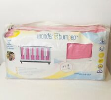 Go Mama Go 38 Count Wonder Crib Guards Bumpers Organic Cotton Pink White New
