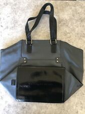 Victorias Secret Tote Bag - NEW - Black Leather And Canvas