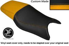Amarillo y Negro de vinilo personalizado se ajusta a Honda CBR 600 F 97-98 Doble Cubierta de asiento solamente