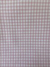 """pottery barn kids curtains 84"""" 2 Panels Pink Gingham Checked 100% Cotton"""