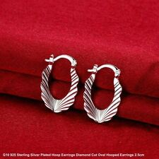 Leverback Diamond Silver Plated Costume Earrings