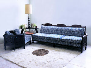 mid century french ROCOCO hollywood regency gothic LOUIS XV sofa couch sectional