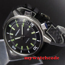 45mm debert Black DIal GMT 21 jewels Miyota 821A Movement Automatic mens Watch