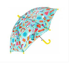 Children's MINI animal print Umbrella. push button opening, light and compact.